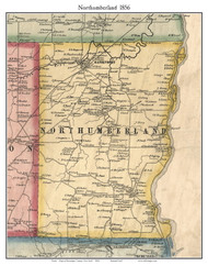 Northumberland, New York 1856 Old Town Map Custom Print - Saratoga Co.