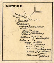Jonesville, New York 1856 Old Town Map Custom Print - Saratoga Co.
