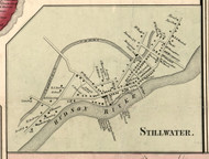 Stillwater Village, New York 1856 Old Town Map Custom Print - Saratoga Co.