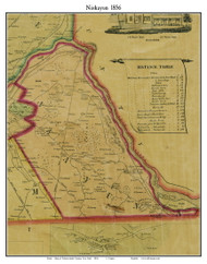 Niskayum, New York 1856 Old Town Map Custom Print - Schenectady Co.