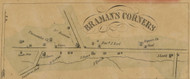 Bramans Corners, New York 1856 Old Town Map Custom Print - Schenectady Co.