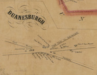 Duanesburgh Village, New York 1856 Old Town Map Custom Print - Schenectady Co.
