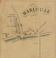 Mariaville, New York 1856 Old Town Map Custom Print - Schenectady Co.