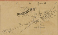 Quakerstreet, New York 1856 Old Town Map Custom Print - Schenectady Co.