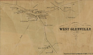 West Glenville, New York 1856 Old Town Map Custom Print - Schenectady Co.