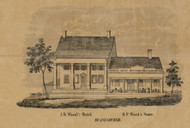 Wood Hotel, New York 1856 Old Town Map Custom Print - Schenectady Co.