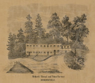 Mohawk Thread & Twine Factory, New York 1856 Old Town Map Custom Print - Schenectady Co.