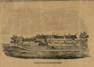 Schenectady Locomotive Works - view 1, New York 1856 Old Town Map Custom Print - Schenectady Co.