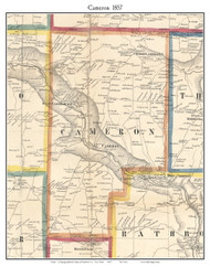 Cameron, New York 1857 Old Town Map Custom Print - Steuben Co.