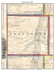 Greenwood, New York 1857 Old Town Map Custom Print - Steuben Co.