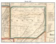 Hornby, New York 1857 Old Town Map Custom Print - Steuben Co.