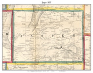Jasper, New York 1857 Old Town Map Custom Print - Steuben Co.