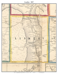 Lindley, New York 1857 Old Town Map Custom Print - Steuben Co.