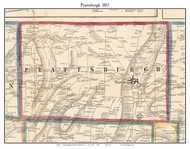 Prattsburgh, New York 1857 Old Town Map Custom Print - Steuben Co.