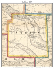 Rathbone, New York 1857 Old Town Map Custom Print - Steuben Co.