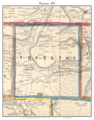 Thurston, New York 1857 Old Town Map Custom Print - Steuben Co.