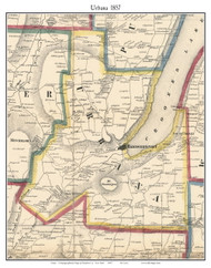 Urban, New York 1857 Old Town Map Custom Print - Steuben Co.