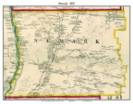 Newark, New York 1855 Old Town Map Custom Print - Tioga Co.