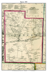 Spencer, New York 1855 Old Town Map Custom Print - Tioga Co.