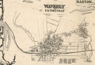 Waverly and Factoryville, New York 1855 Old Town Map Custom Print - Tioga Co.