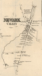 Newark Valley, New York 1855 Old Town Map Custom Print - Tioga Co.