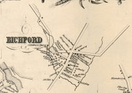 Richford Village, New York 1855 Old Town Map Custom Print - Tioga Co.