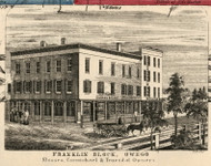 Franklin Block, New York 1855 Old Town Map Custom Print - Tioga Co.