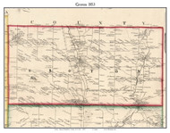 Groton, New York 1853 Old Town Map Custom Print - Tompkins Co.