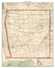 Hector, New York 1853 Old Town Map Custom Print - Tompkins Co.
