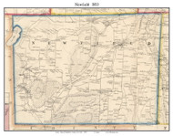 Newfield, New York 1853 Old Town Map Custom Print - Tompkins Co.