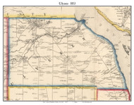 Ulysses, New York 1853 Old Town Map Custom Print - Tompkins Co.