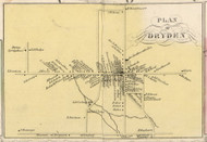 Dryden Village, New York 1853 Old Town Map Custom Print - Tompkins Co.
