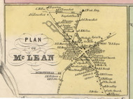 McLean, New York 1853 Old Town Map Custom Print - Tompkins Co.