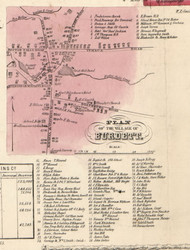 Burdett, New York 1853 Old Town Map Custom Print - Tompkins Co.