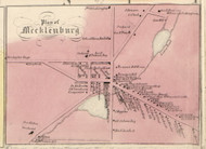 Mecklenburg, New York 1853 Old Town Map Custom Print - Tompkins Co.