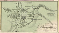 Ludlowville, New York 1853 Old Town Map Custom Print - Tompkins Co.