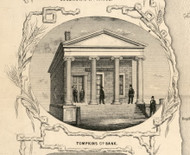Tompkins Co. Bank, New York 1853 Old Town Map Custom Print - Tompkins Co.