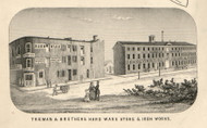 Treman & Brothers Hardware Store, New York 1853 Old Town Map Custom Print - Tompkins Co.