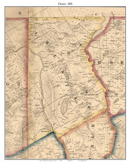 Chester, New York 1858 Old Town Map Custom Print - Warren Co.