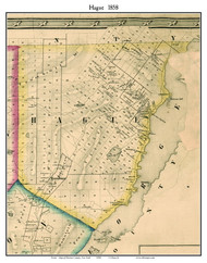 Hague, New York 1858 Old Town Map Custom Print - Warren Co.