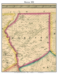 Horicon, New York 1858 Old Town Map Custom Print - Warren Co.