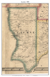 Luzerne, New York 1858 Old Town Map Custom Print - Warren Co.