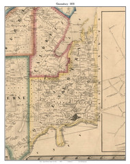 Queensbury, New York 1858 Old Town Map Custom Print - Warren Co.