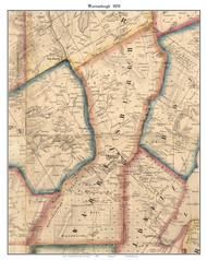 Warrensburgh, New York 1858 Old Town Map Custom Print - Warren Co.