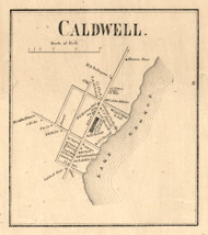 Caldwell Village, New York 1858 Old Town Map Custom Print - Warren Co.