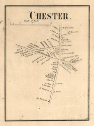 Chester Village, New York 1858 Old Town Map Custom Print - Warren Co.