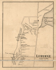 Luzerne Village, New York 1858 Old Town Map Custom Print - Warren Co.
