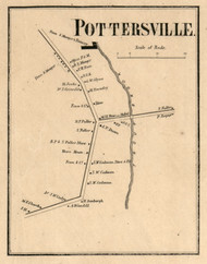 Pottersville, New York 1858 Old Town Map Custom Print - Warren Co.