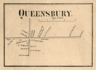 Queensbury Village, New York 1858 Old Town Map Custom Print - Warren Co.