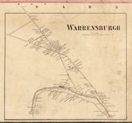 Warrensburgh Village, New York 1858 Old Town Map Custom Print - Warren Co.